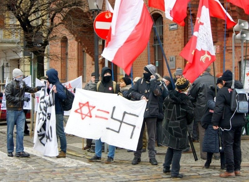 demonstration against Jews in Poland